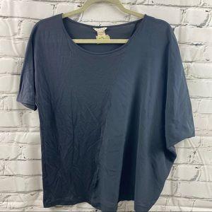 Club Monaco dual panel half silk t-shirt